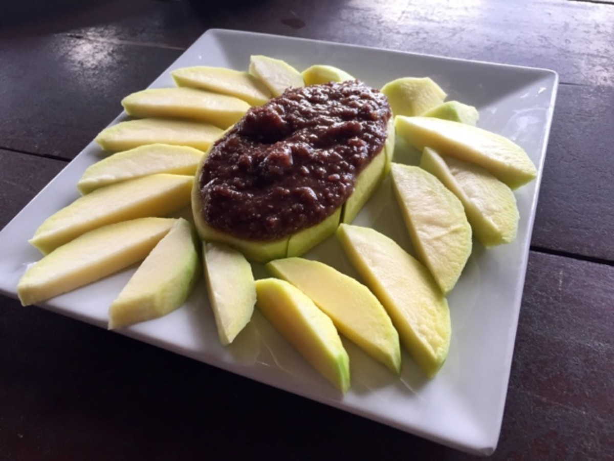 Green mango with Bagoong by Nanay Sela's Restaurant