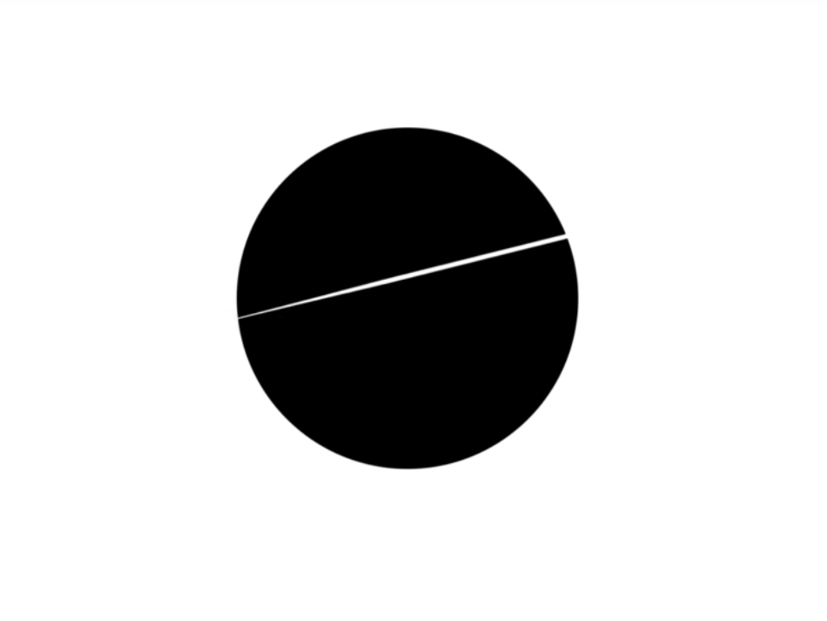 V's circle sign: two halves of a whole.