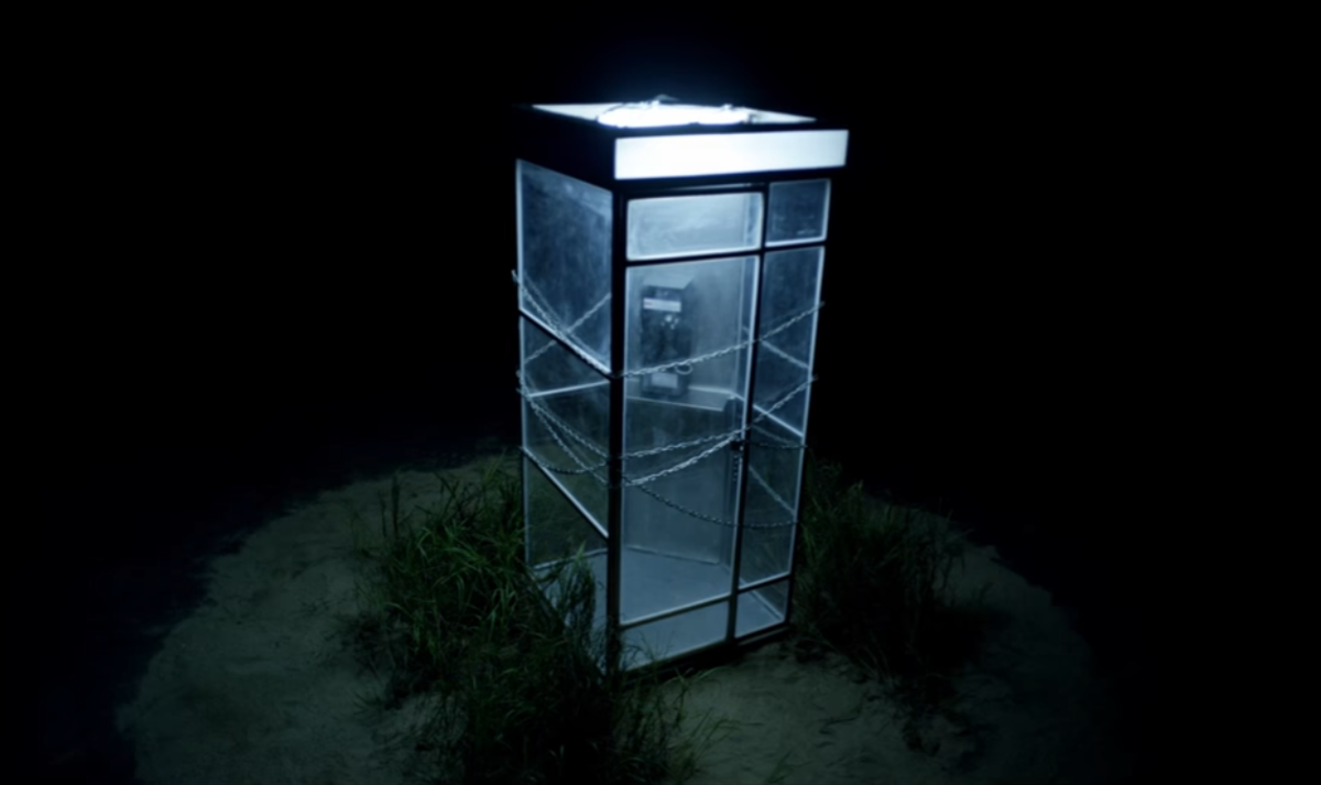 The locked up phone booth at 1:54.