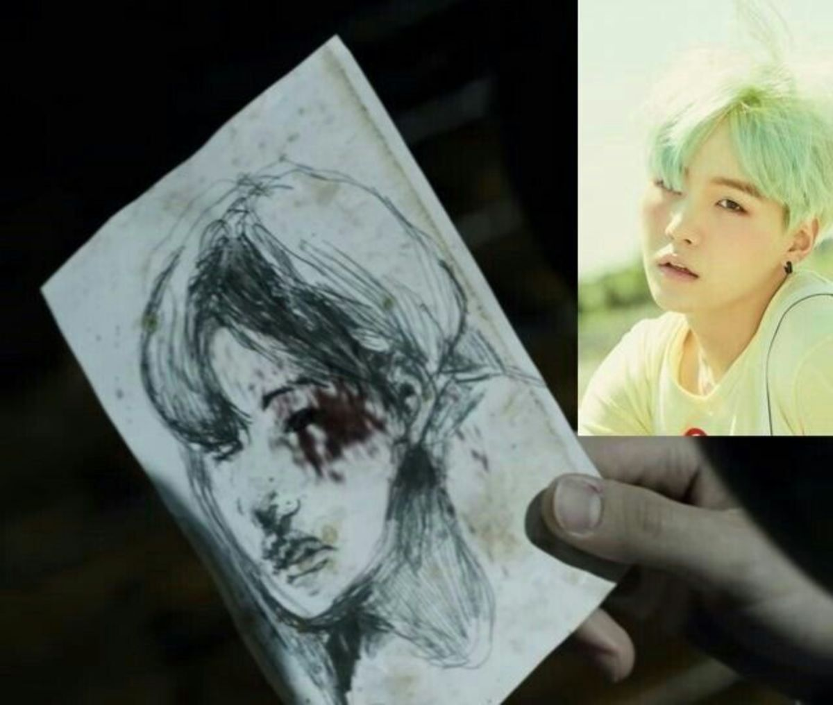 The drawing of Suga.
