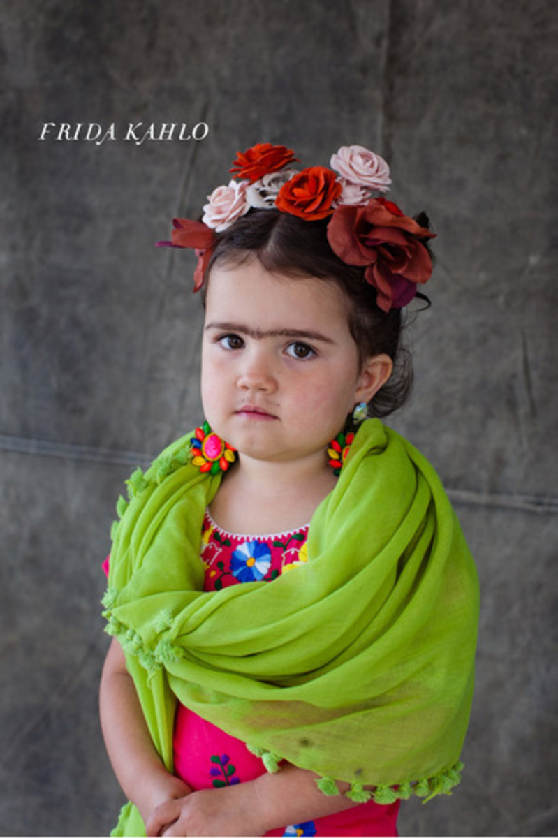 Art artist inspired diy halloween costume ideas hubpages kids frida kahlo costume picture solutioingenieria Choice Image