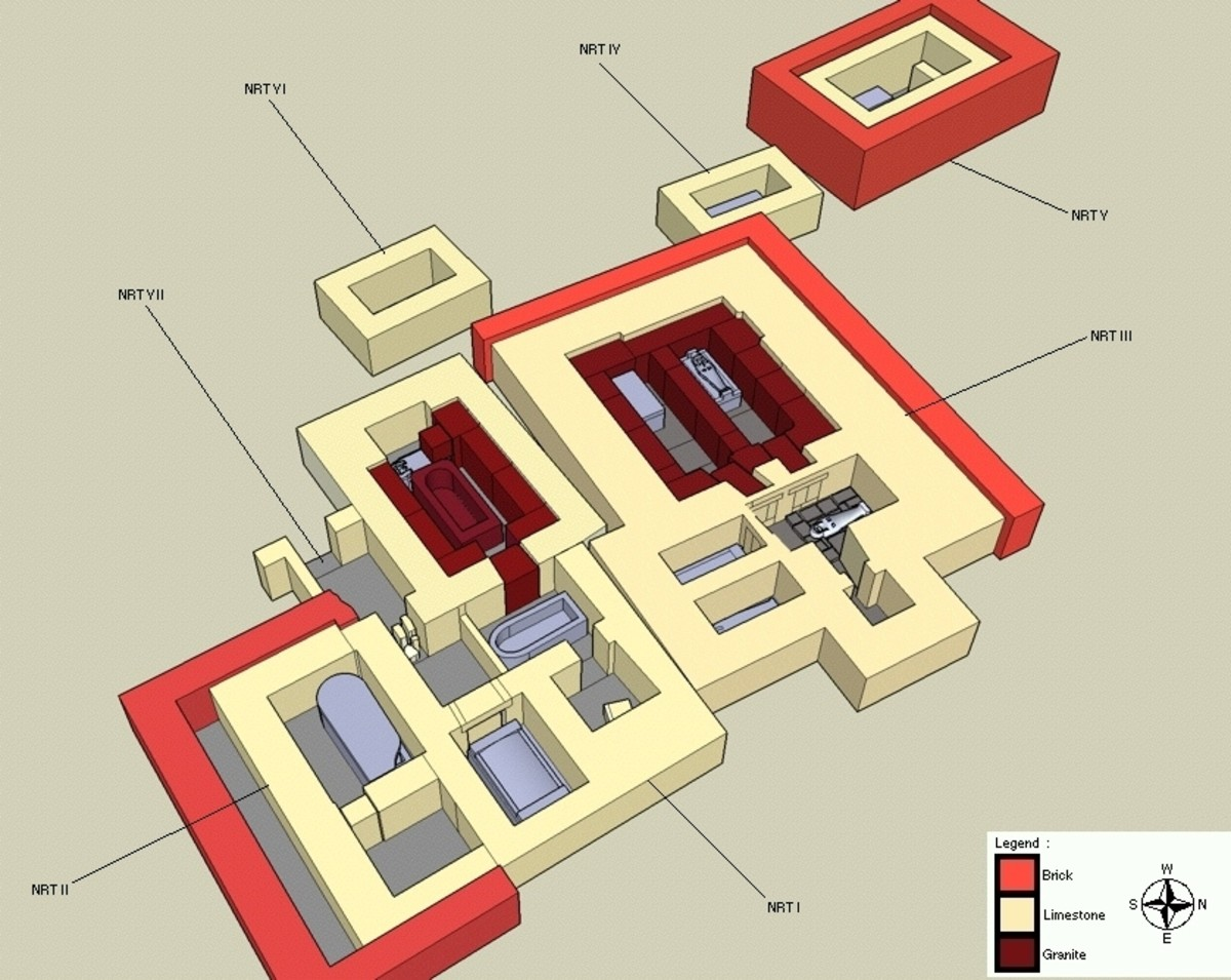 Layout of the royal necropolis of Tanis