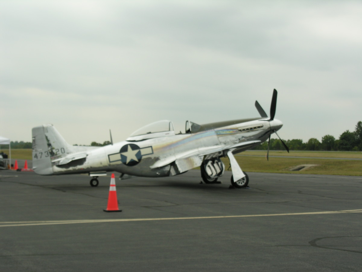 A P-51 Mustang at the Leesburg Airshow, September 2016.