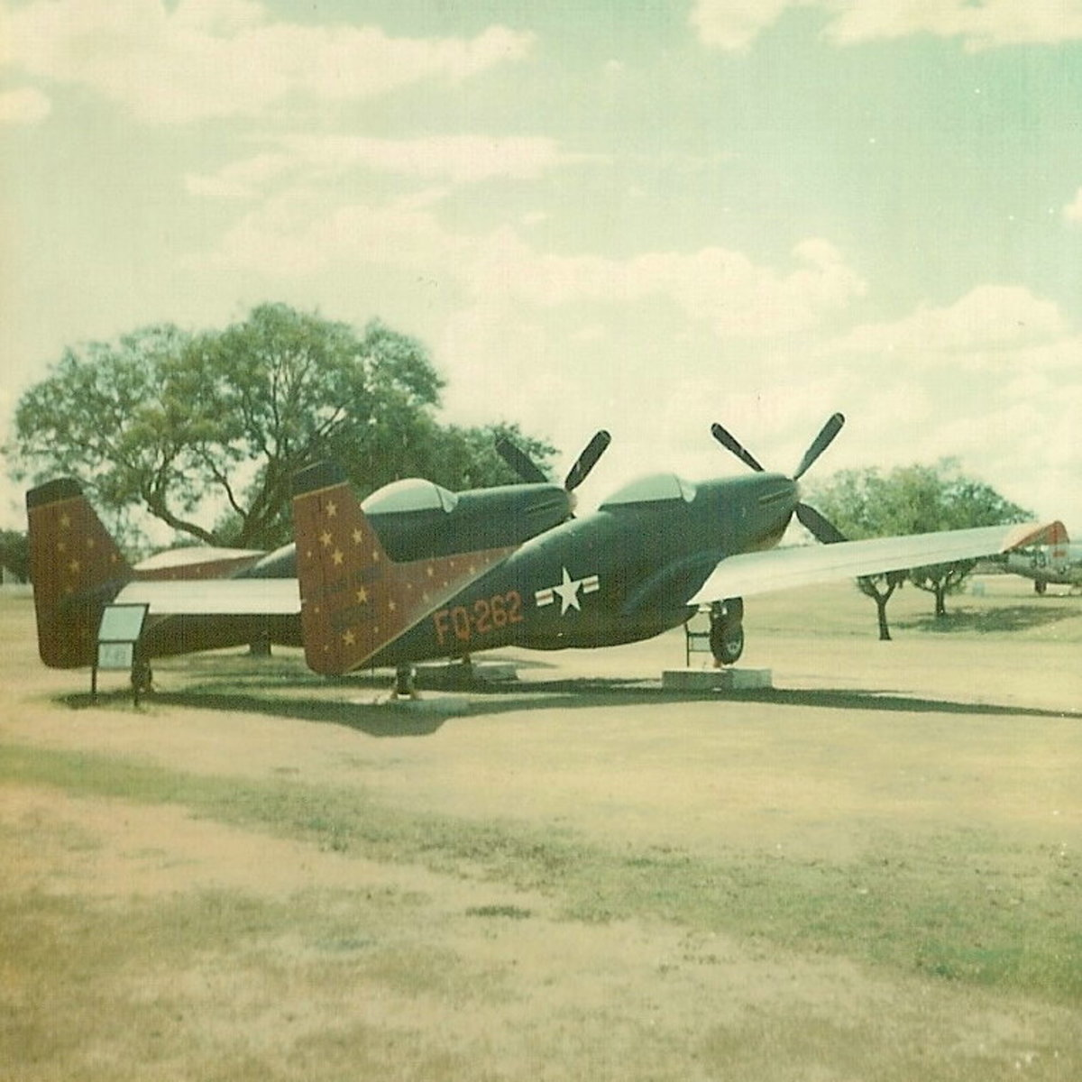 A P-82 Twin Mustang at Lackland AFB, TX, circa 1977,