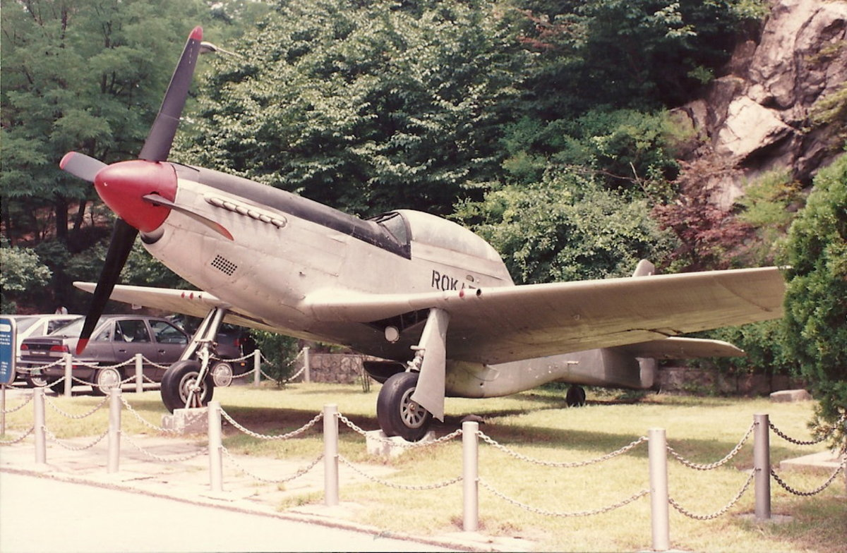 A Republic of Korea Air Force F-51 at the Korean Freedom League display, 1985.