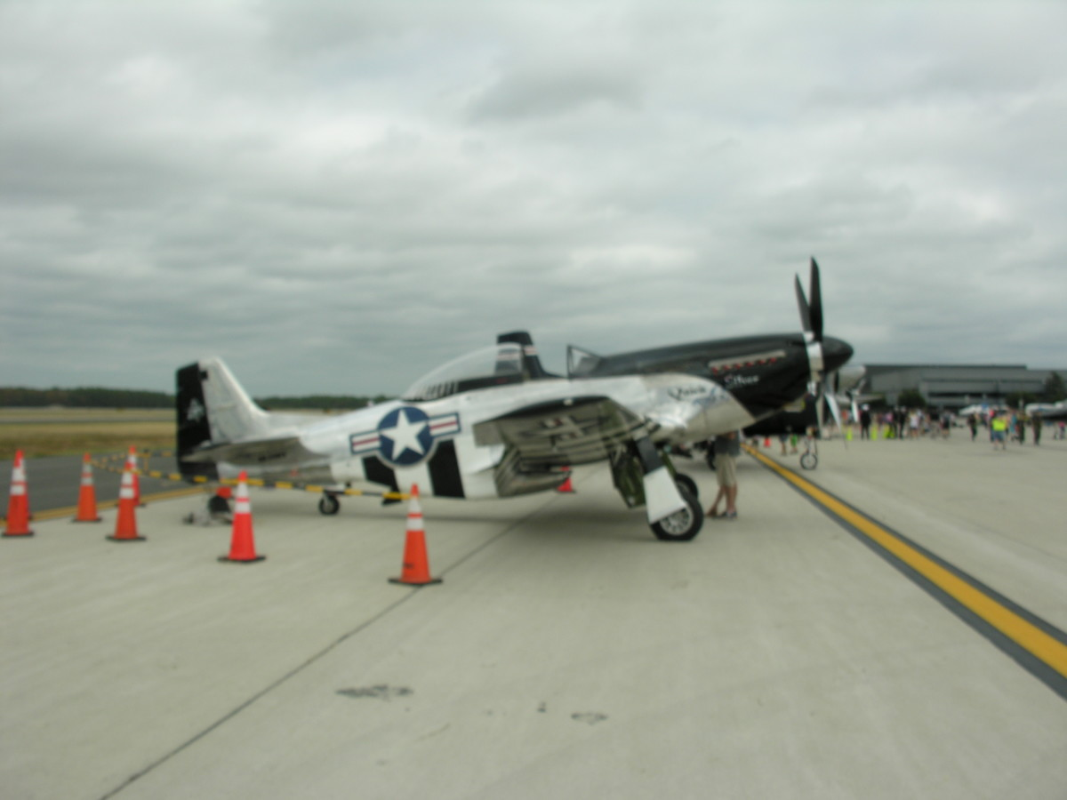 A P-51 Mustang at the Dulles Open House, September 2016.