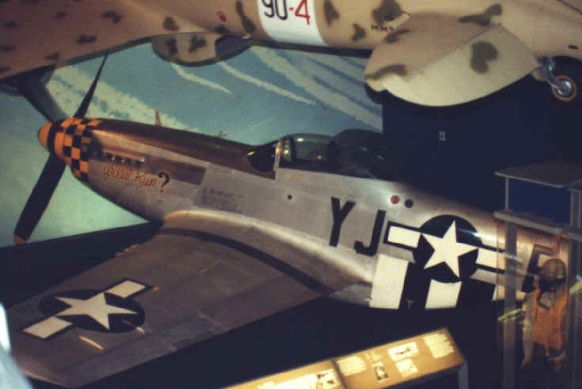 The P-51 at the National Air and Space Museum, Washington, DC