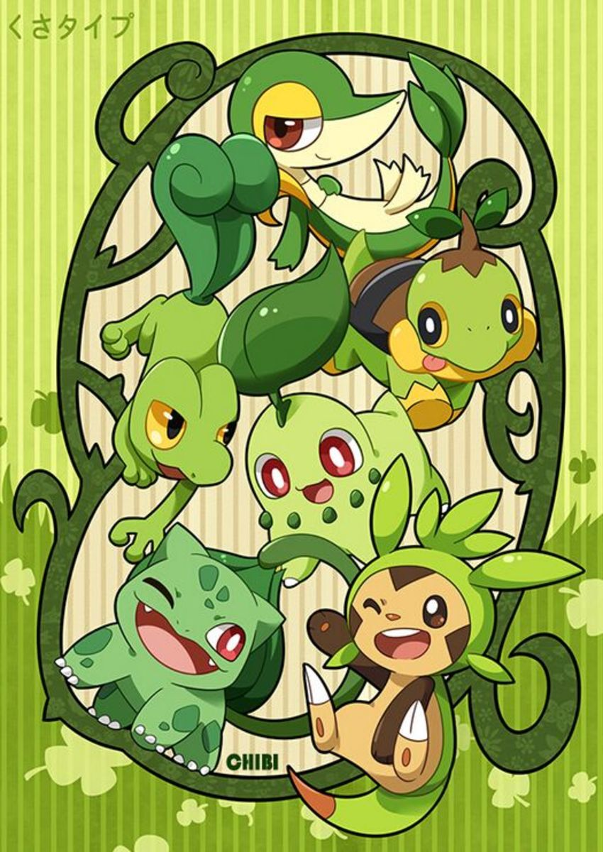 Pokemon: Fire, Water and Grass. Grass Starters.