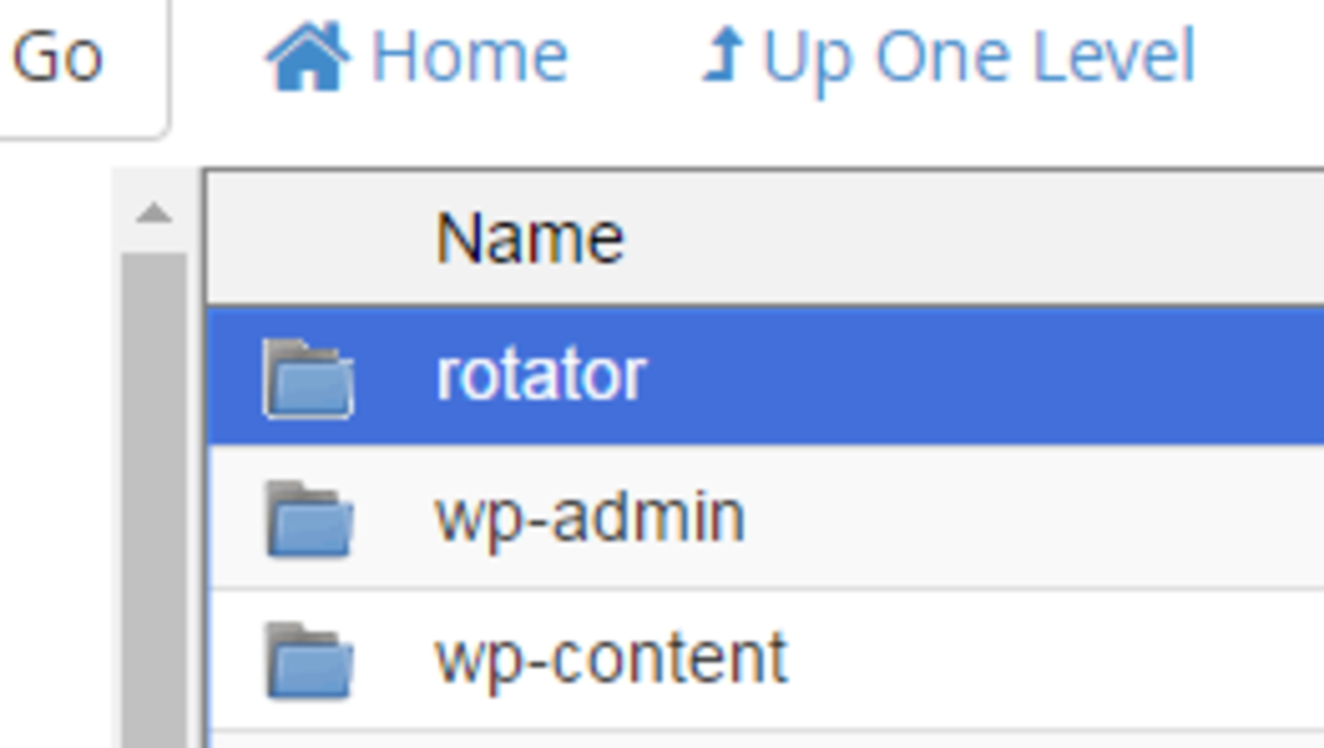 example of my folder for my rotator script.