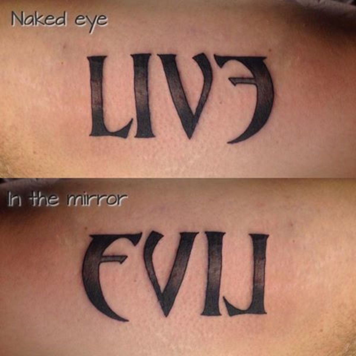 LIVE - EVIL: an Ambigram and Semordnilap?