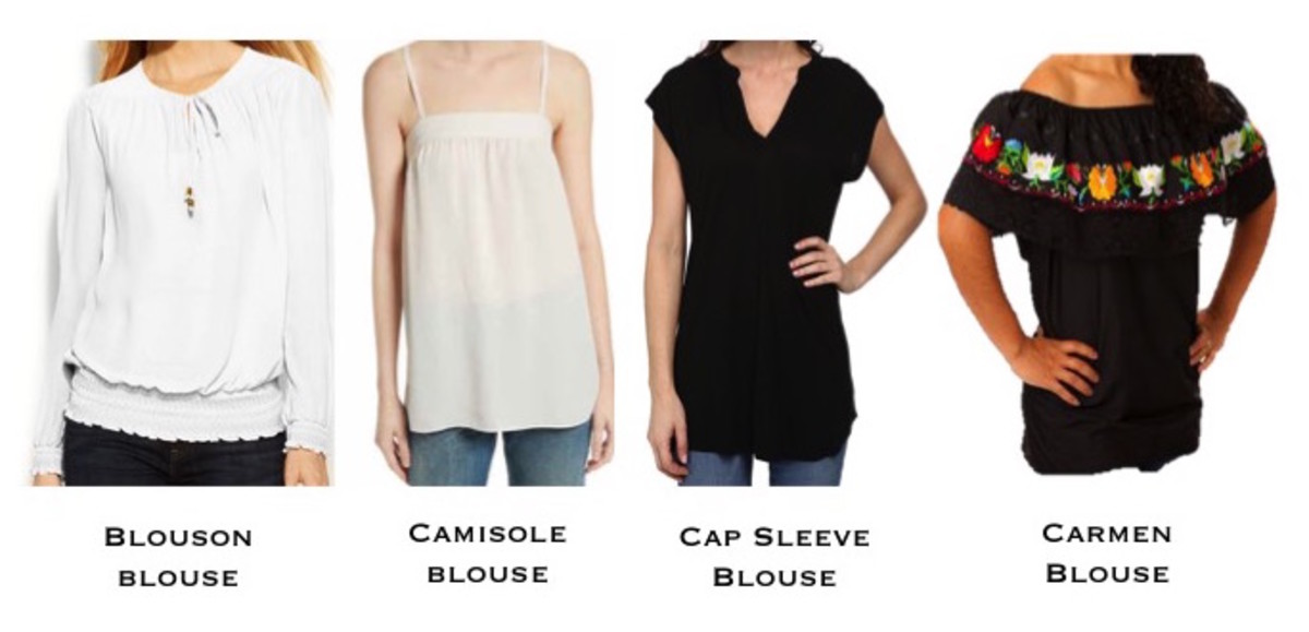 What are the Various Types of Fashion Blouses or Tops Available in the Market : An A-Z List
