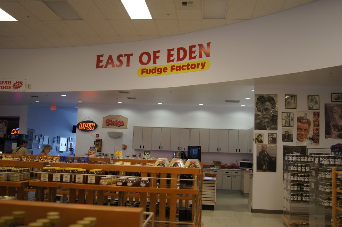 a fudge store with a name like a book and movie