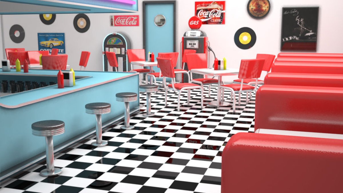 "a modern interpretation of the 1950's ""classic"" diner"