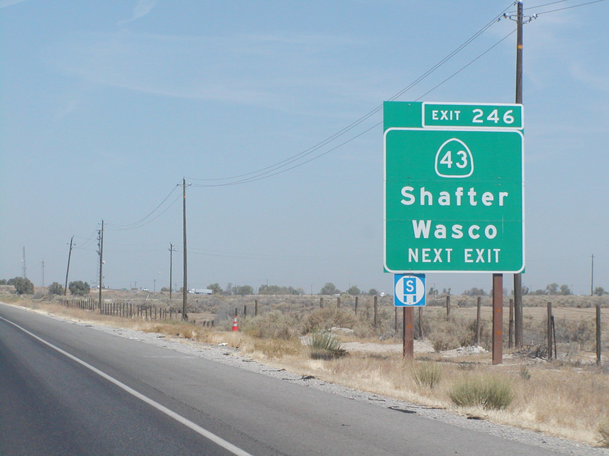 Highway 43 near Wasco