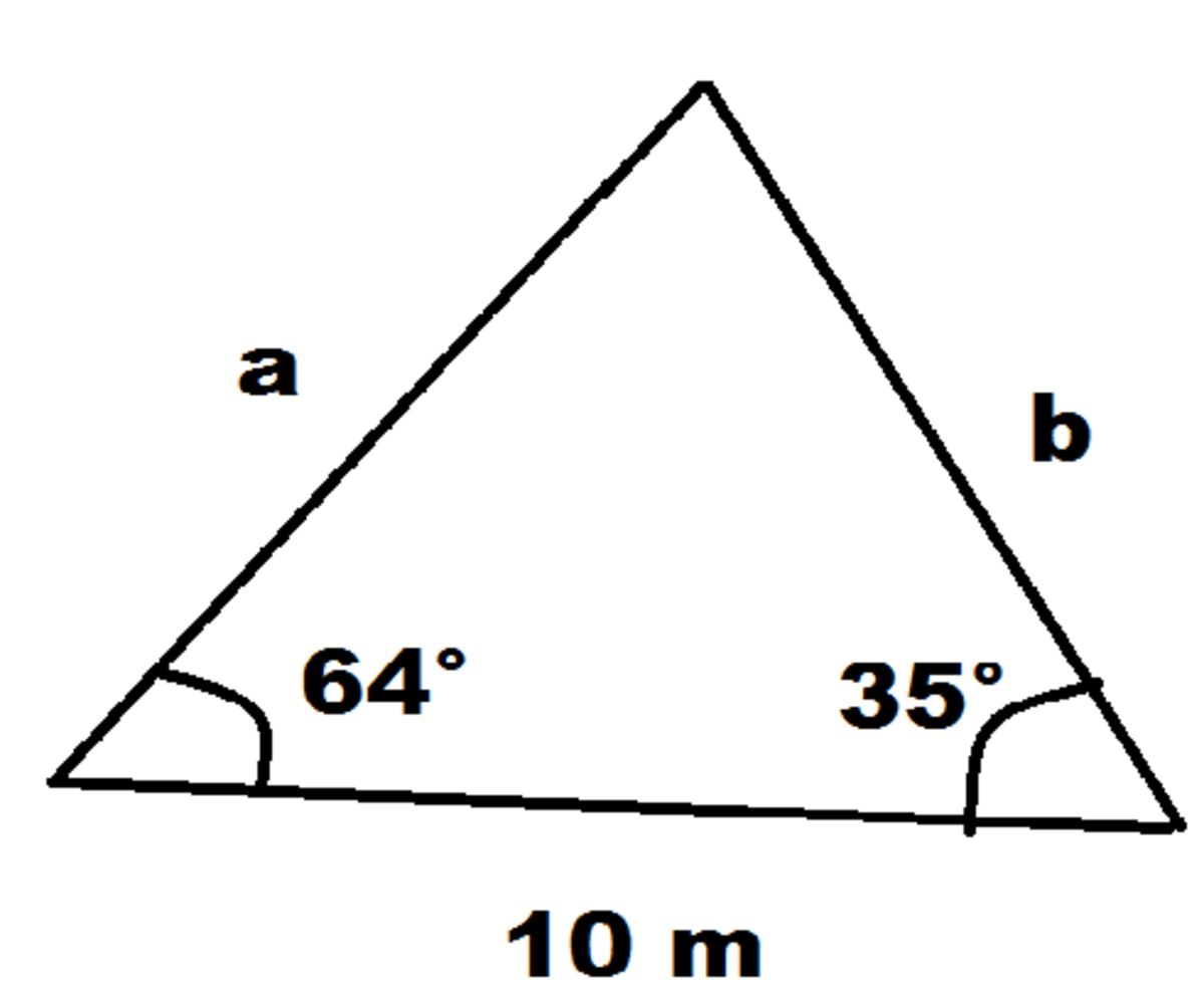 Calculator Technique for Unknown Sides of a Triangle