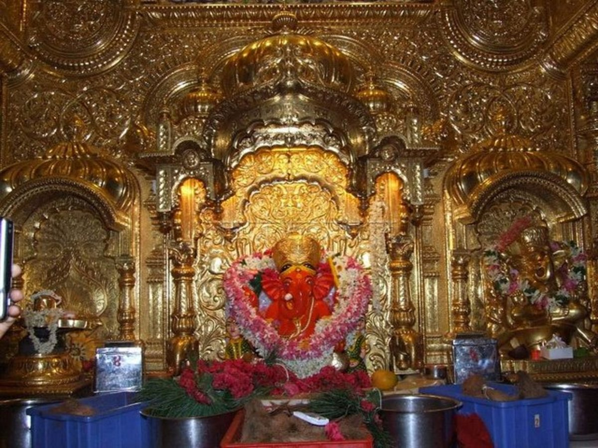 Lord Ganesh at the Siddhivinayak Temple