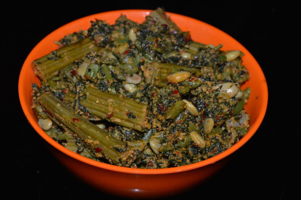 A Diabetic-friendly curry with amaranth leaves, hyacinth beans, and drumstick