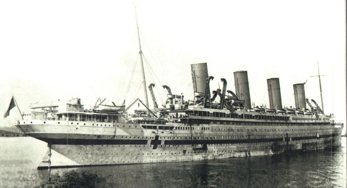 The Britannic as a hospital ship.