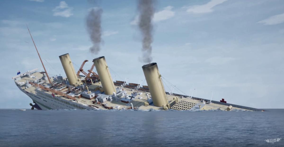 Britannic's final plunge.