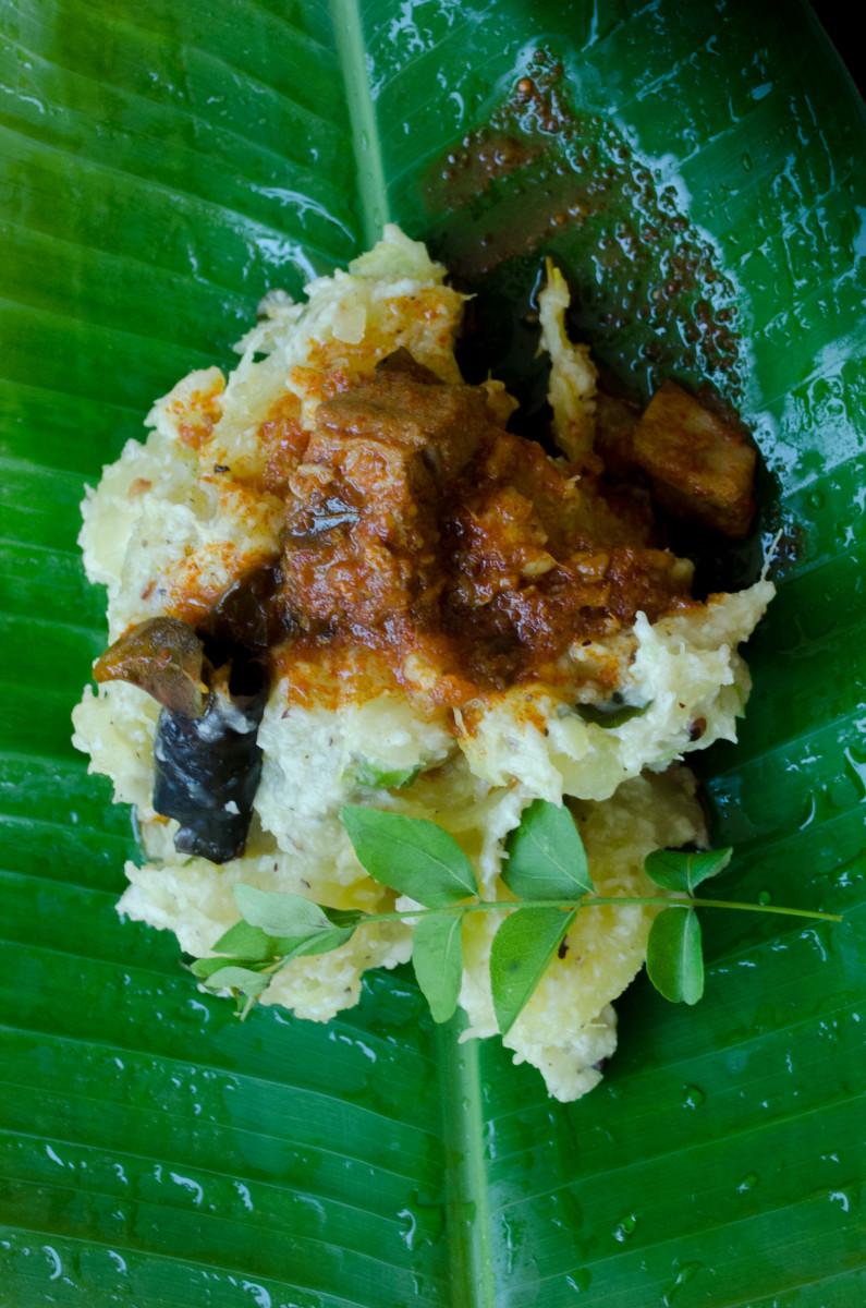 Kerala Style Tapioca Meen Curry