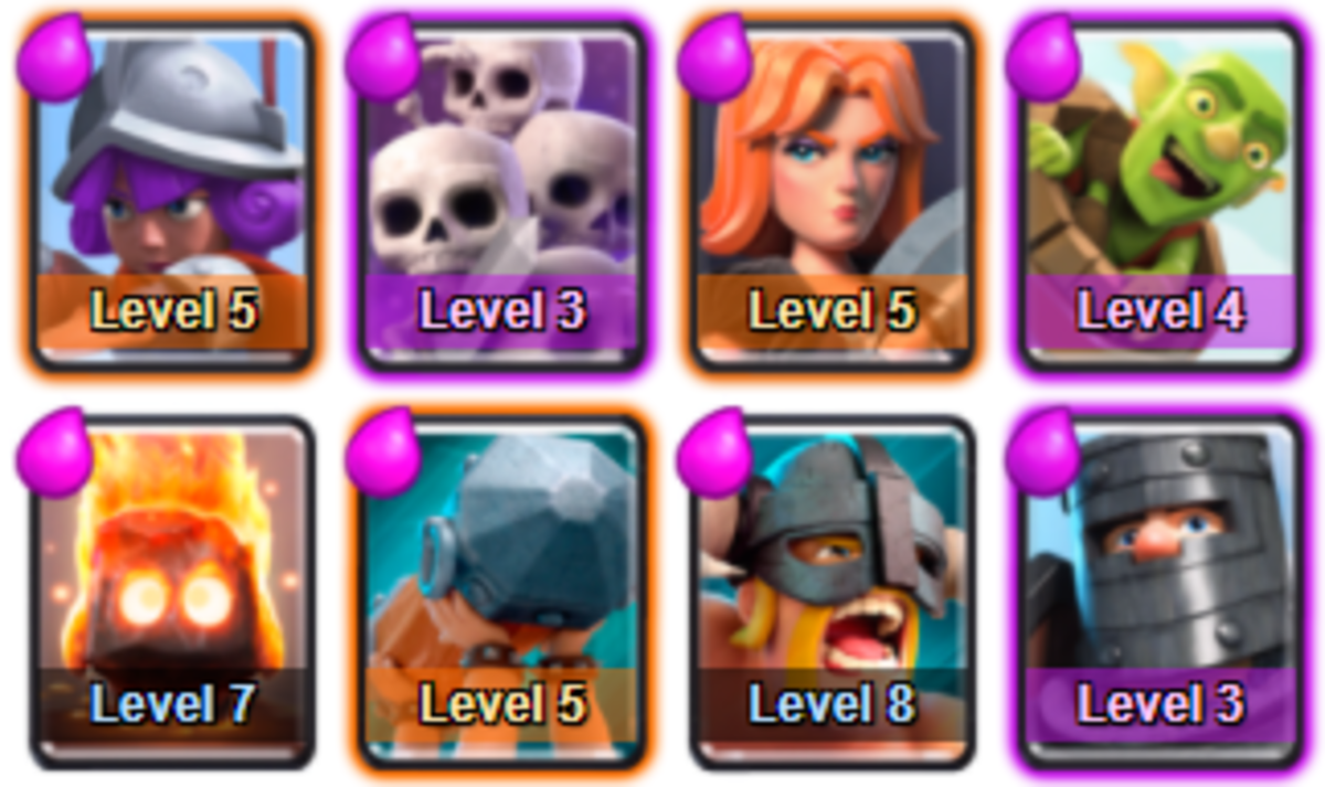 This Arena is a hard arena to break out of with mid leveled troops. Focus on upgrading your weakest units to build a well rounded deck.