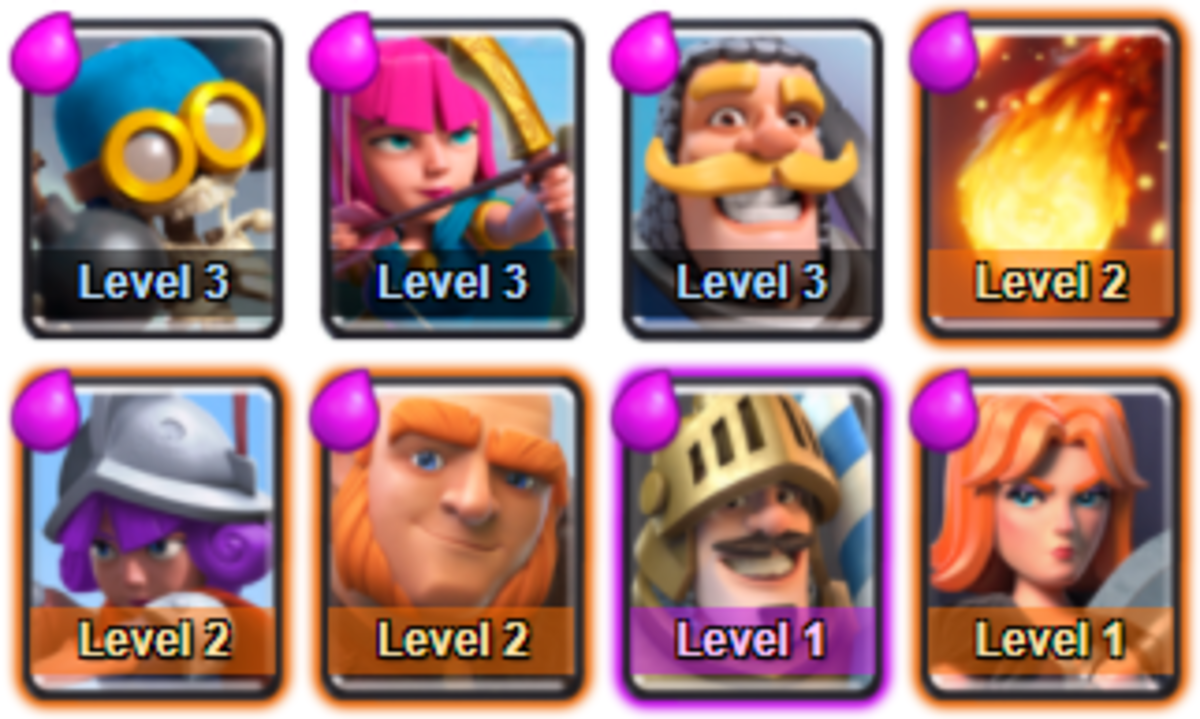 This deck will get you through Arena 3 and into Arena 4 with no problem whatsoever!