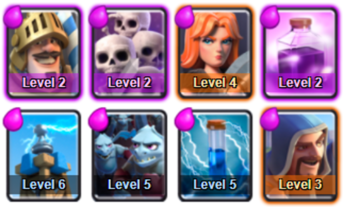 This arena starts to get a bit harder as the players who have made it this far aren't just casual players. Now this deck gives ability to attack and defend against most decks in arena 6.