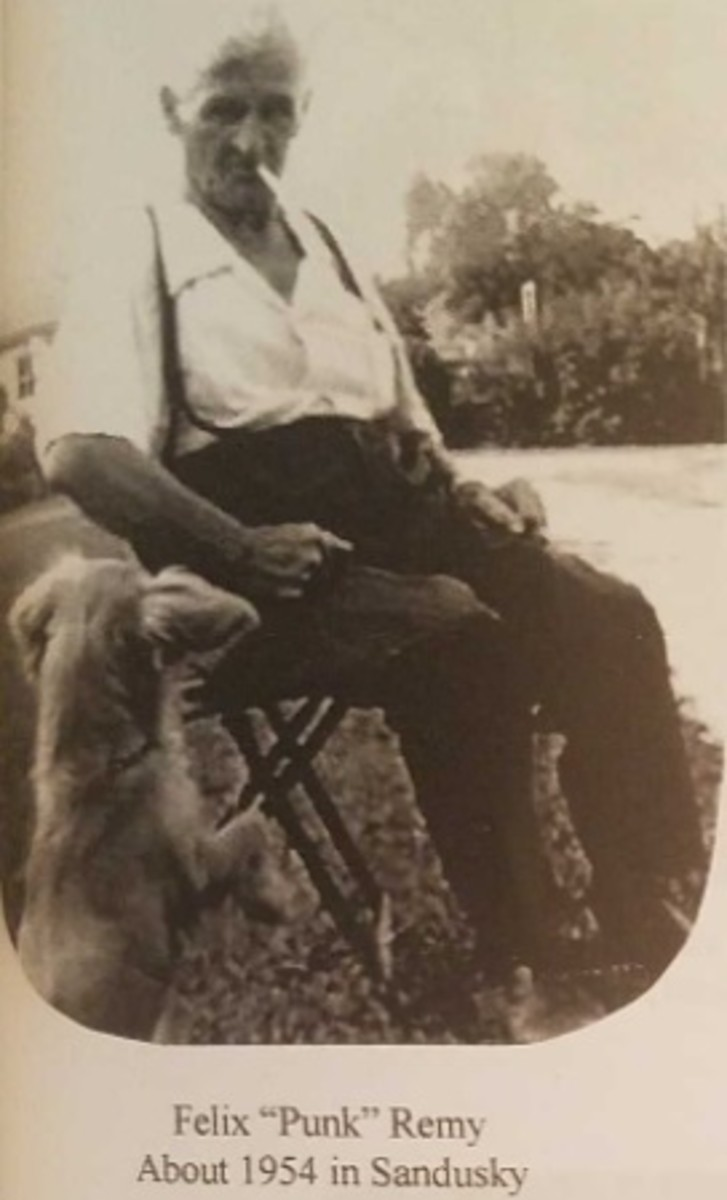 Son of Felician. My current dads great grandfather. He was known to be one mean son of a bitch. He lit two matches per day. One in the morning and one in the evening to continue smoking all day. I remember hearing that he loved his trained dog Honey.