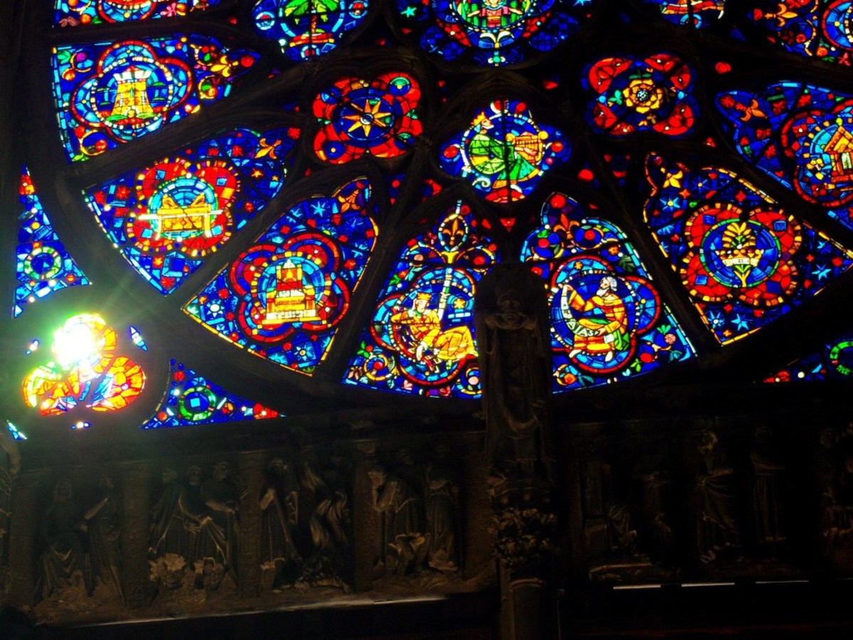 Details of a rose window, Reims Cathedral