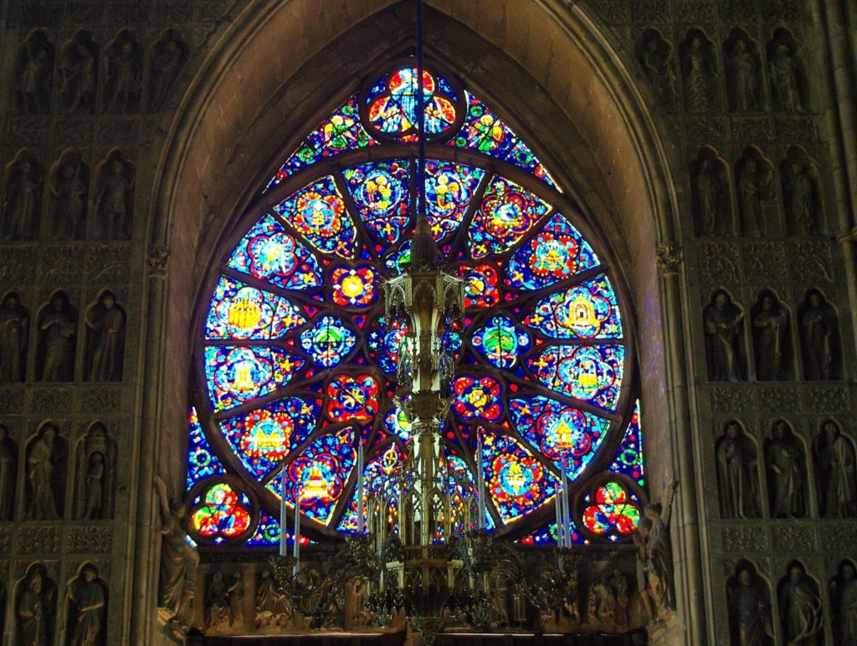 West rose window, Reims Cathedral