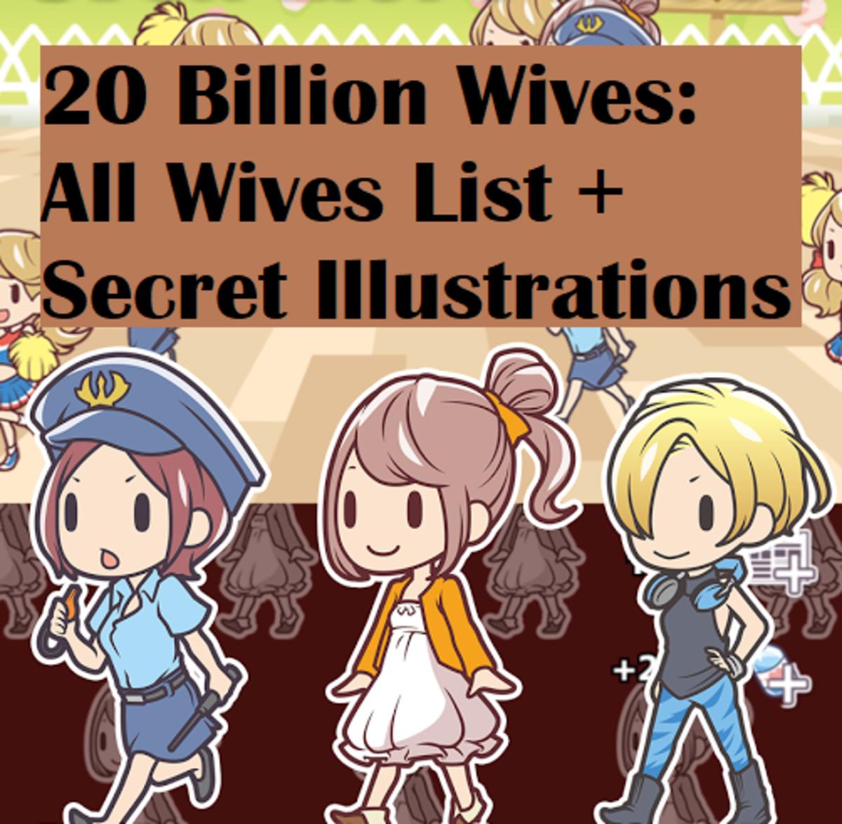 20 Billion Wives: All Wives List + Secret Illustrations