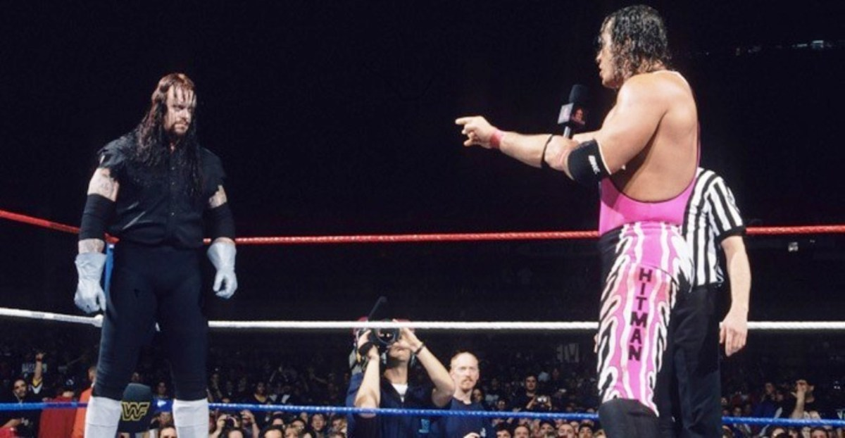 "The Undertaker and Bret ""The Hitman"" Hart"