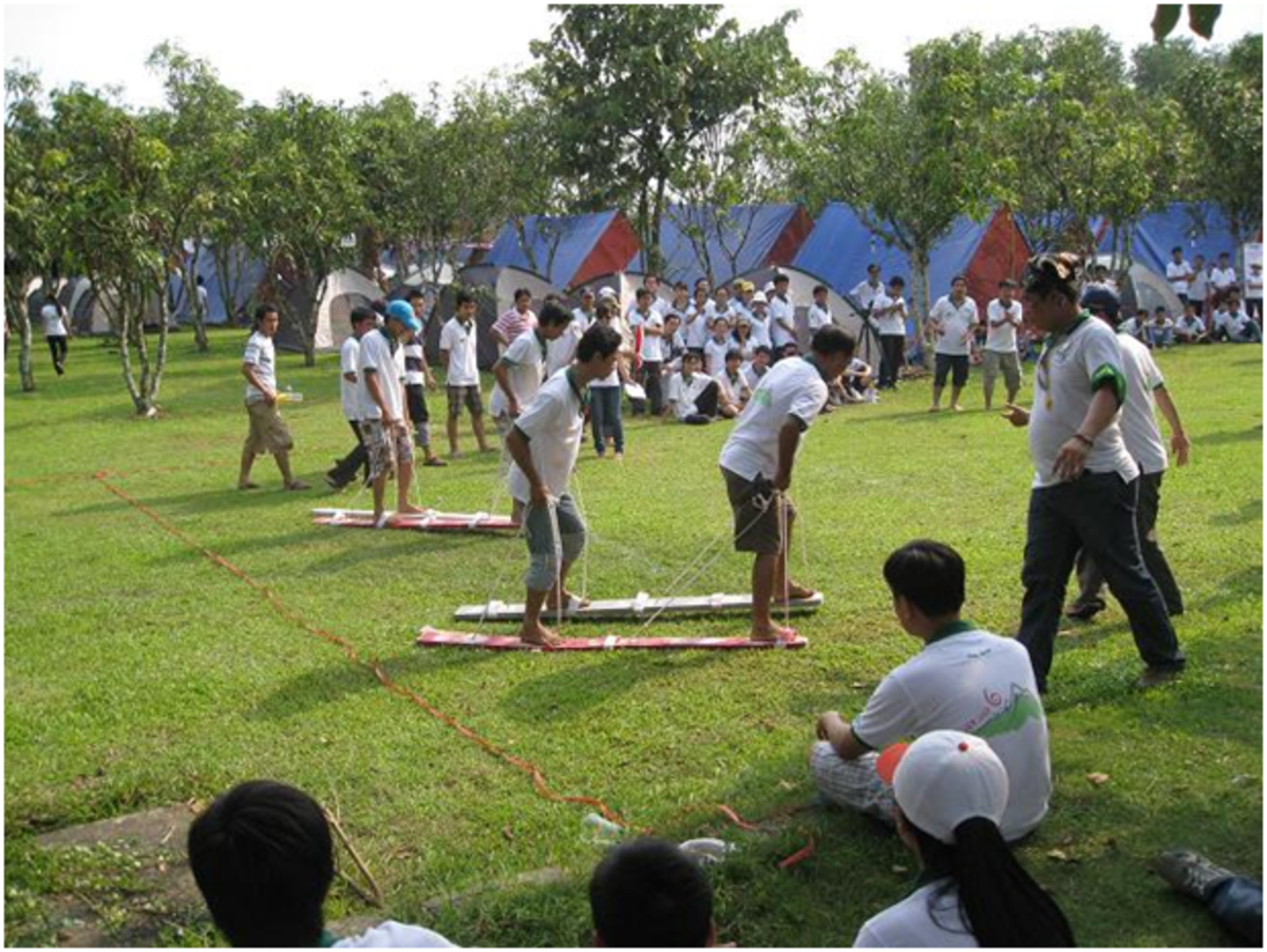 Team-building games are of great fun