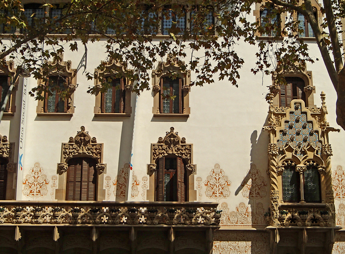 Palau Macaya building in Barcelona is a perfect example of combining Gothic and Modernist architectural design.