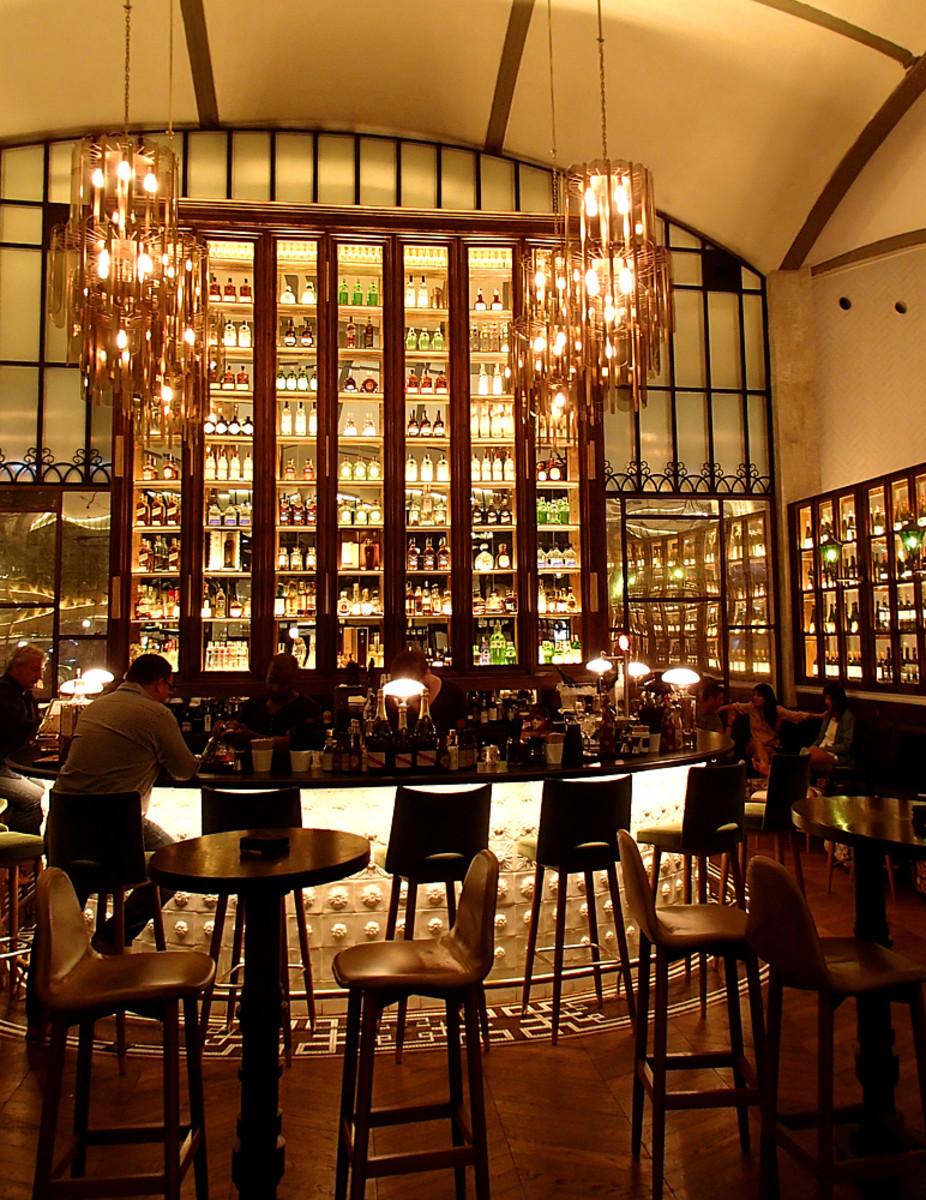 Wine bar at El Nacional restaurant.