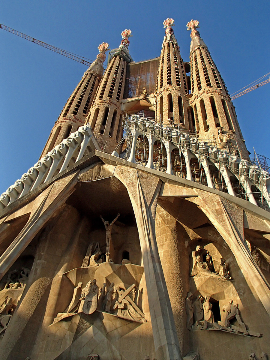 Passion Facade at the Sagrada Familia (under on going construction).
