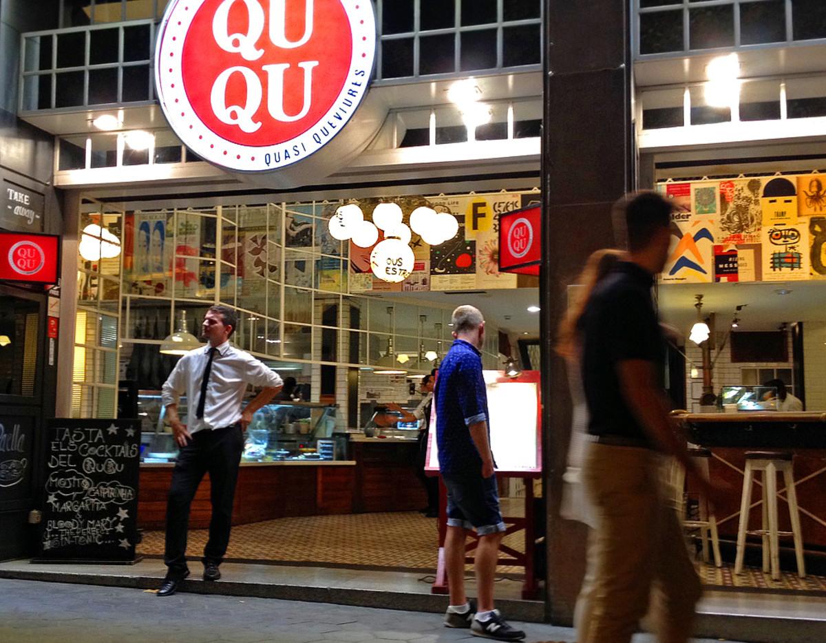 A tapas restaurant on Passeig de Gracia avenue.