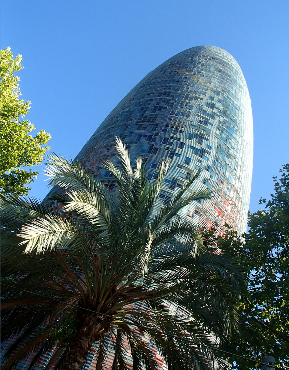 Designed by French architect Jean Nouvel, the Torre Agbar skyscraper is another iconic landmark of Barcelona.