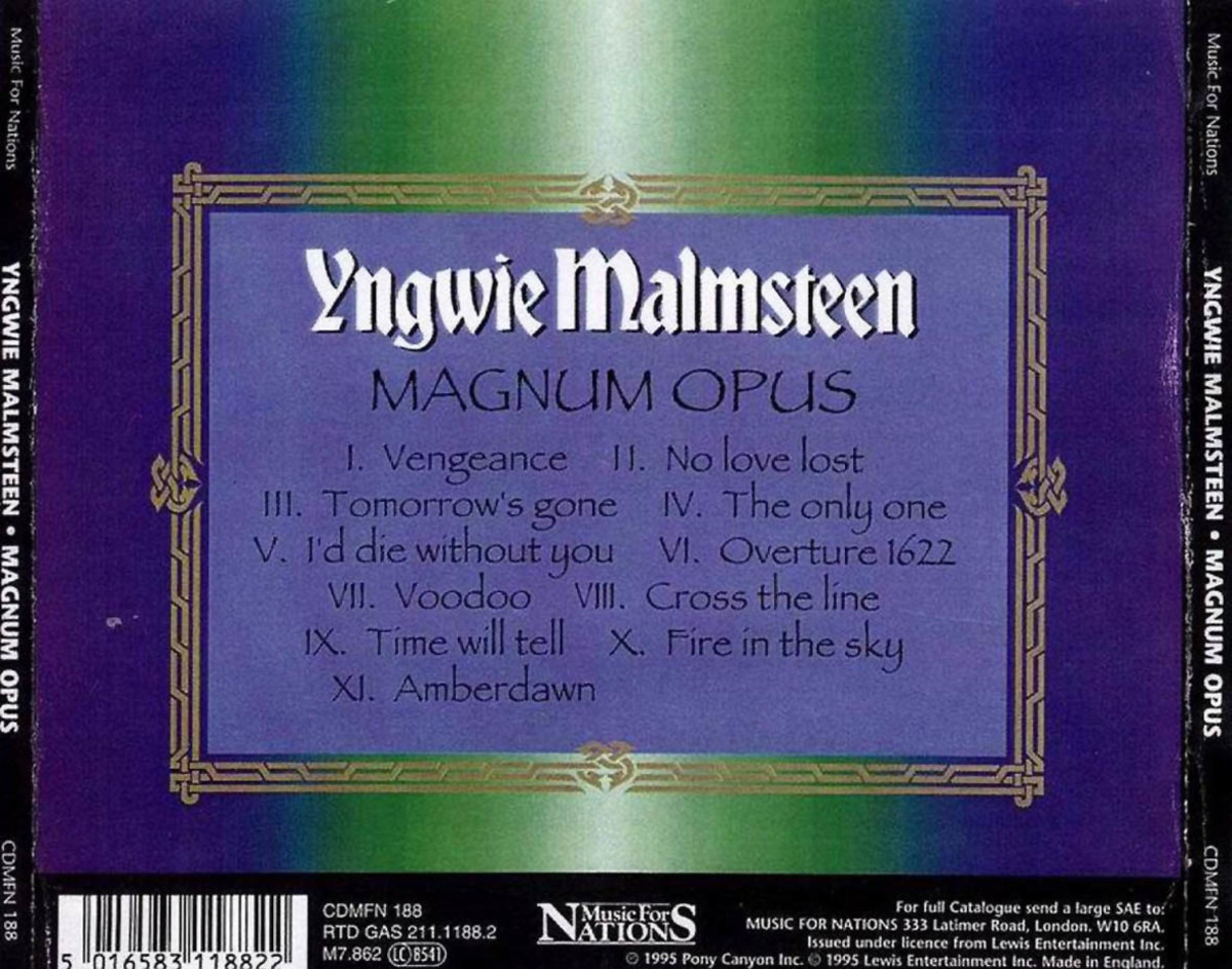 "Review ""Magnum Opus"" by Yngwie J Malmsteen Sweden's Neoclassical Legend"