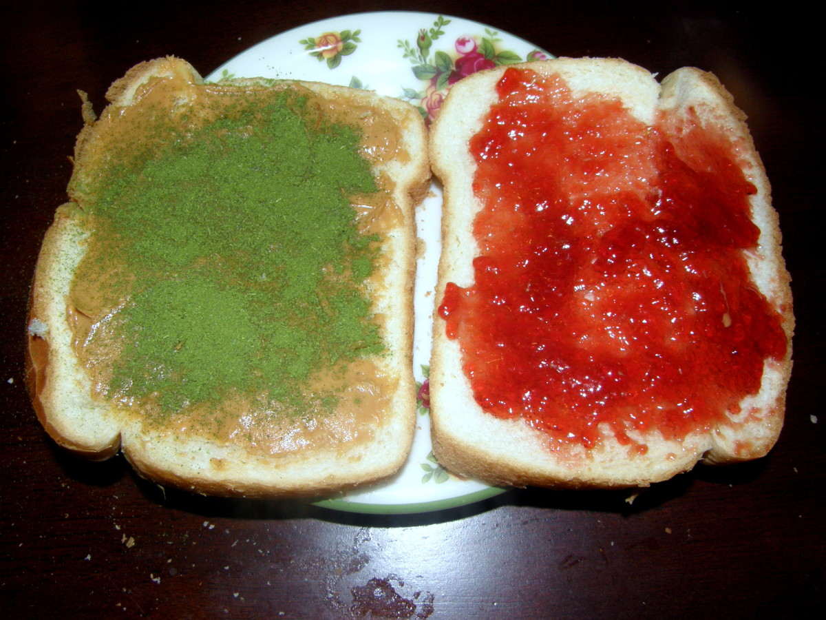My youngest son loves Moringa powder sprinkled on his PBJ sandwiches.  Simply sprinkle some of the powder onto the peanut butter after it is spread on the bread.