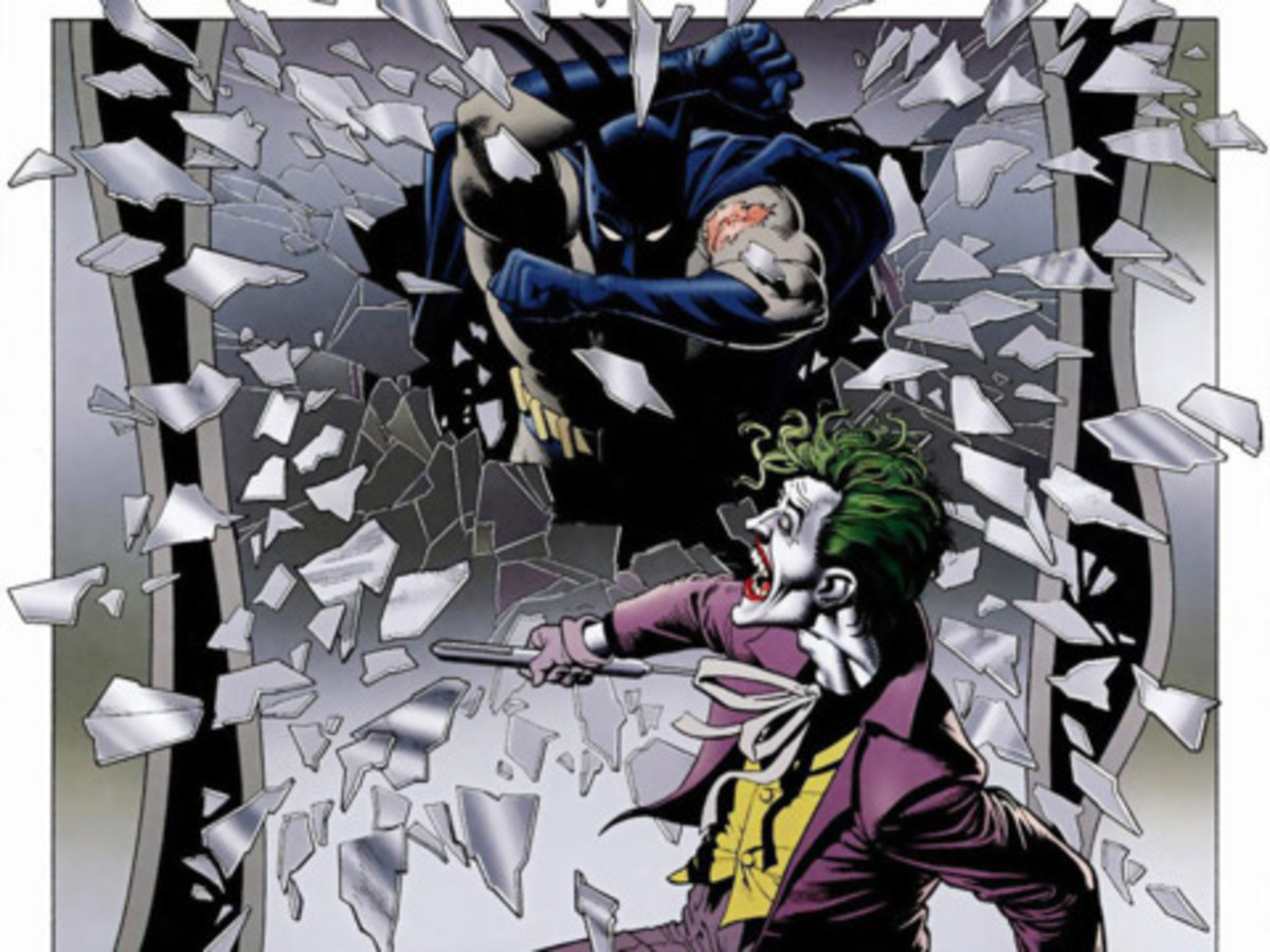 An iconic image from Batman: The Killing Joke.