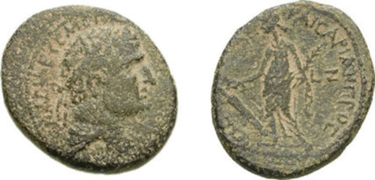 A coin minted by Herod Agrippa I