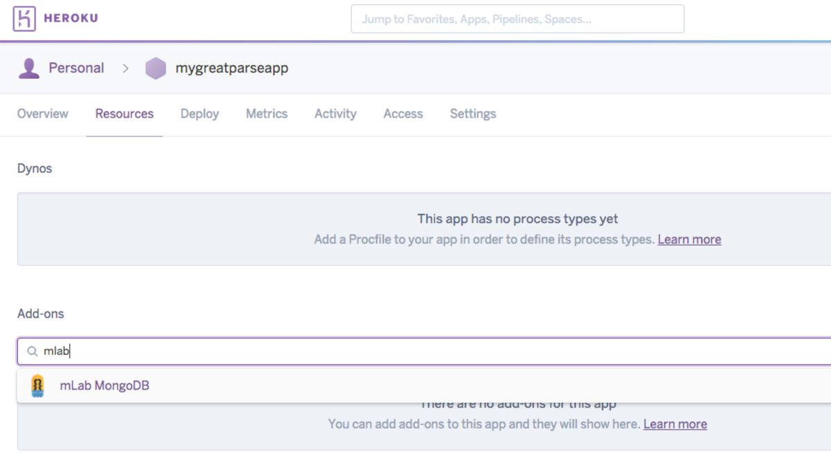Select ongoDB option