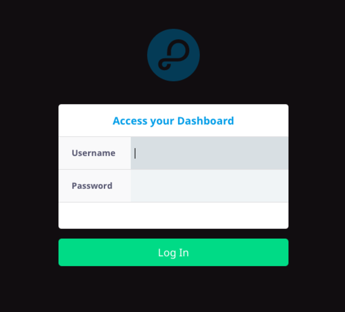 The Parse Dashboard Login window