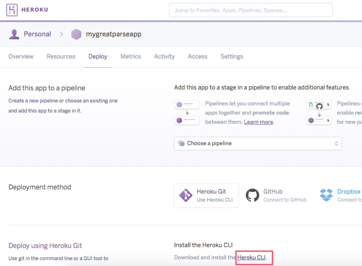 Download Heroku CLI