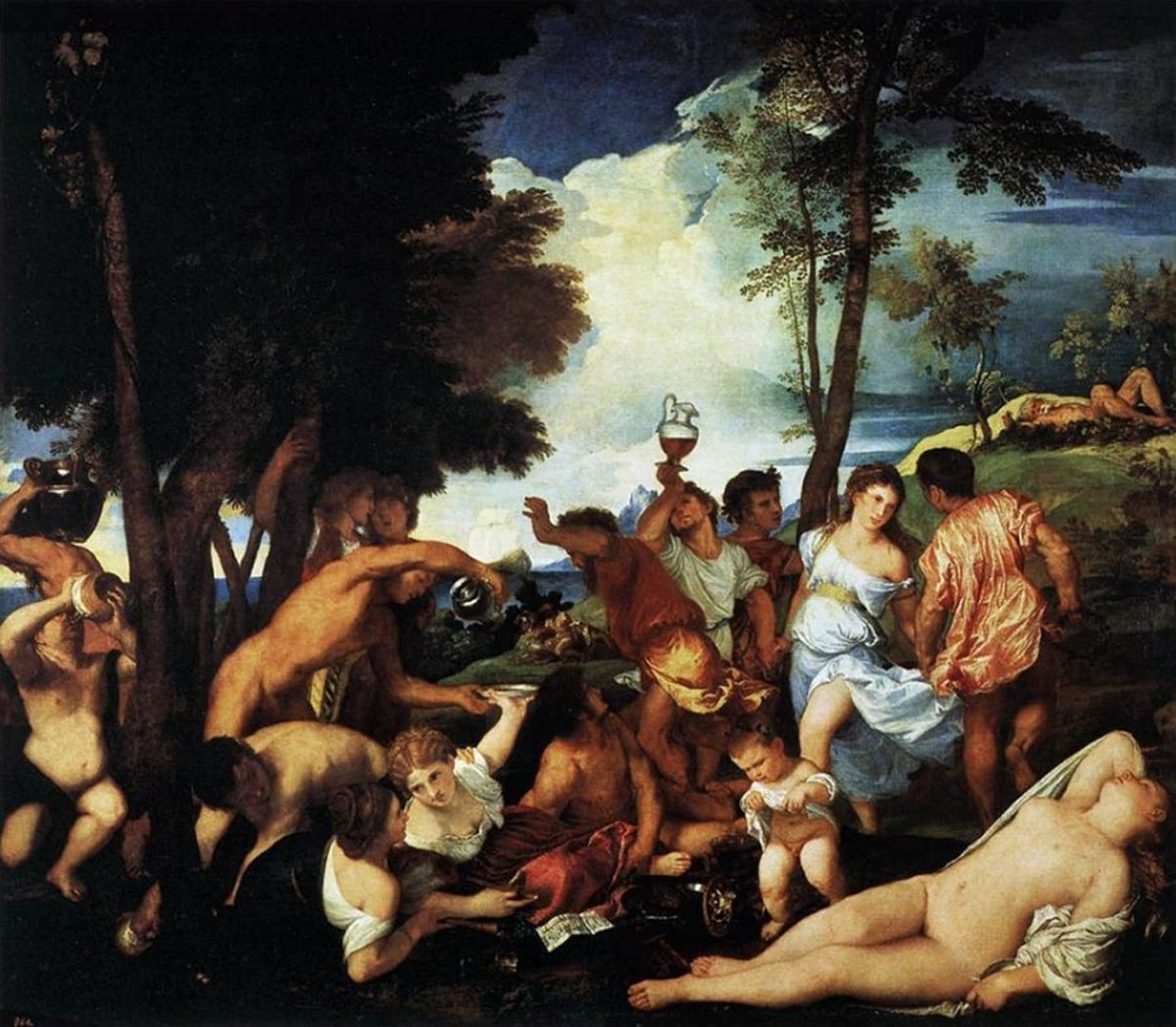 A depiction of a Bachannal in Ancient Rome. The festival involved lots of drinking and orgies.