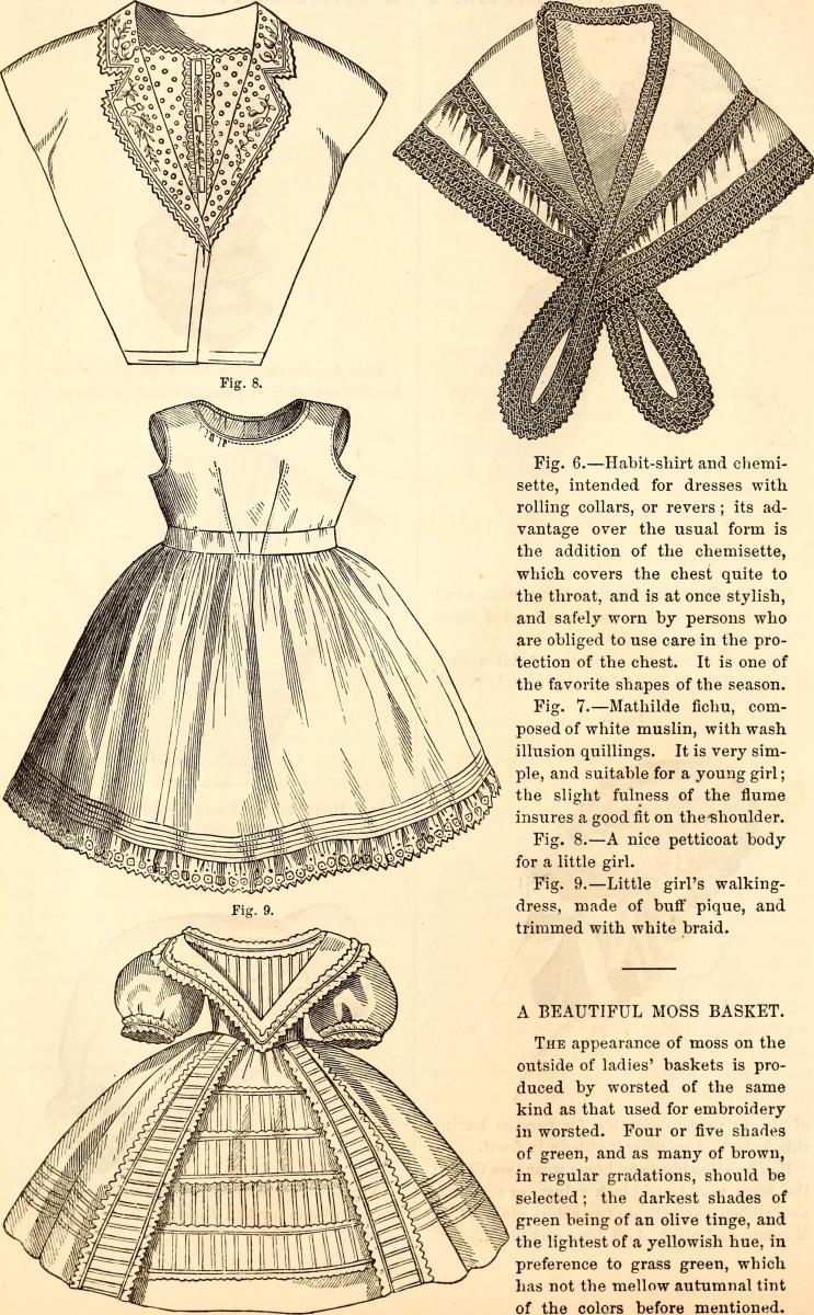 Godey's Ladies Book Page circa 1840