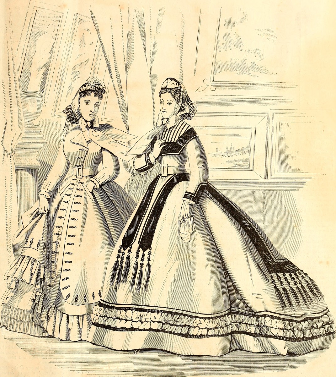 Page from Mme. Demorest's Mirror of Fashion 1865