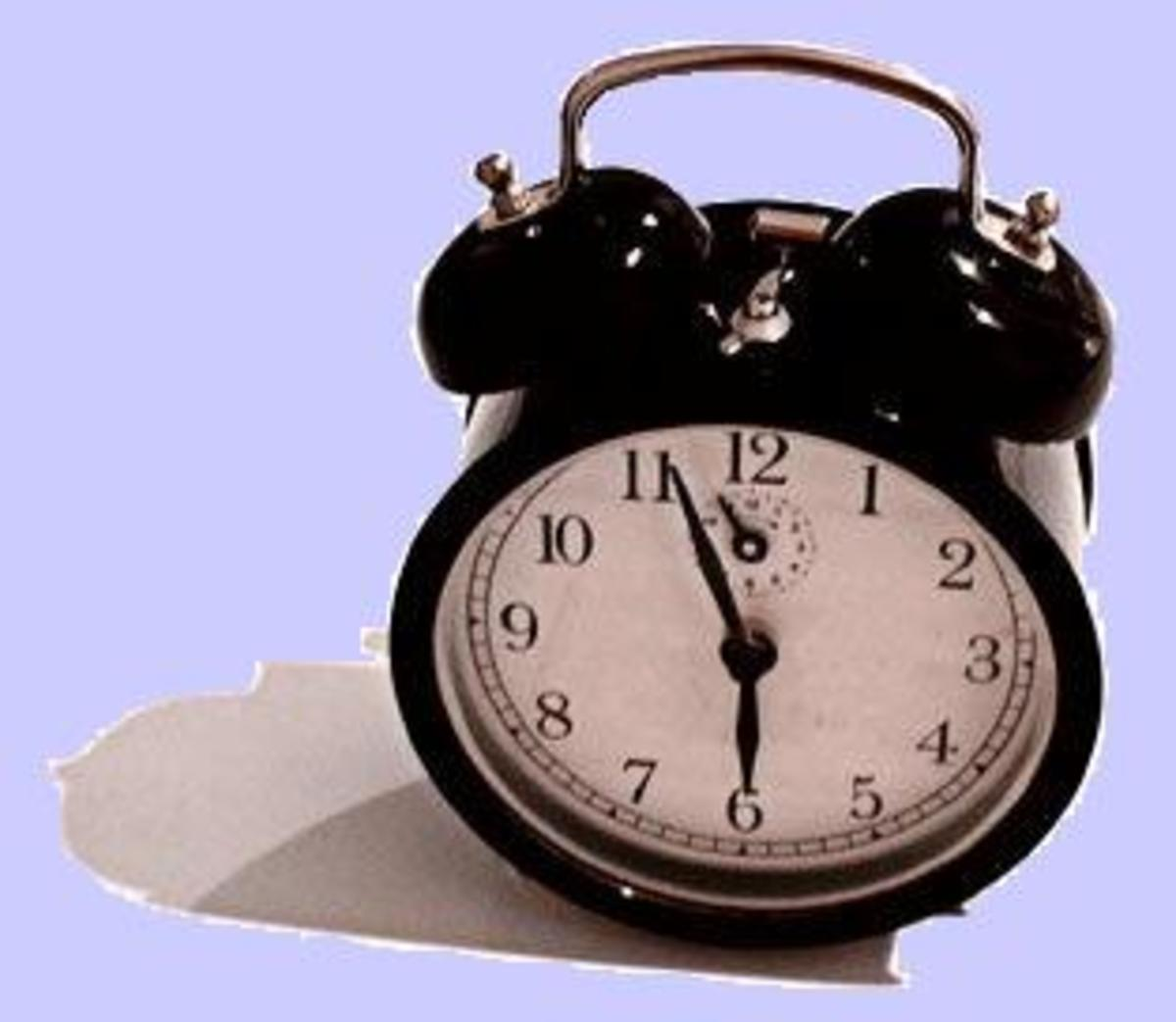 "The ""timbre"" of an alarm clock is different from a bank alarm."