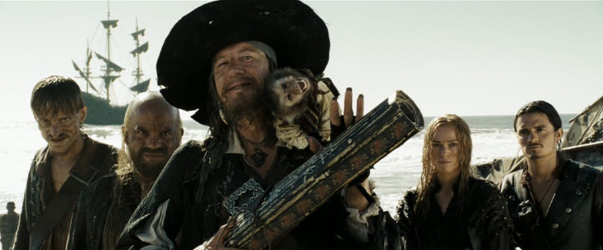 Barbosa joins Jack Sparrow's team in order to take down Davy Jones.